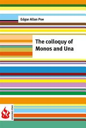 The colloquy of Monos and Una (low cost). Limited edition