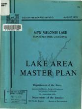 Design Memorandum No  3  New Melones Lake  Stanislaus River  California Master Plan PDF