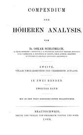 Compendium der höheren Analysis: Band 2