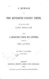 A Memoir of the Reverend Sydney Smith: Memoir