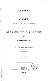 Reports of Cases Argued and Determined in the Supreme Judicial Court of the Commonwealth of Massachusetts: 1837, Volume 36