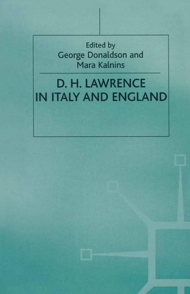 Download D  H  Lawrence in Italy and England Book