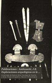 """Publicaciones: Ambrosetti, J.B. Exploraciones arquelógicas en la ciudad prehistórica de """"La Paya."""" Parte [1]-2. 1907-08: Número 3"""