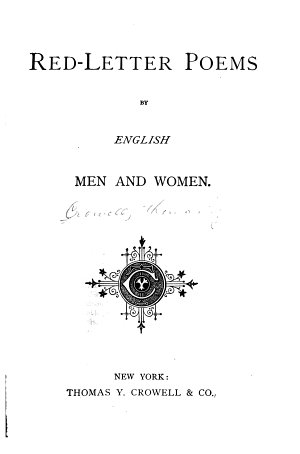 Red letter Poems by English Men and Women
