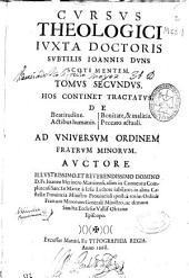 De beatitudine, De actibus humanis, De bonitate [et] malitia, De peccato actuali