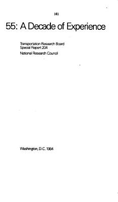 Impact and Implementation of the 55 mile per hour Speed Limit PDF