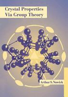 Crystal Properties Via Group Theory PDF