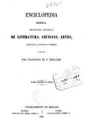 Enciclopedia moderna: Diccionario universal de literatura, ciencias, artes, agricultura, industria y comercio, Volumen 25