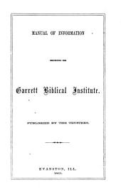 Catalogue of Garrett Biblical Institute