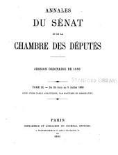 Annales du Sénat et de la Chambre des députés: Volume9