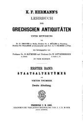 Lehrbuch der griechischen Staatsalteertümer...