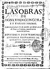 Todas las obras de Don Luis de Gongora: En varios poemas