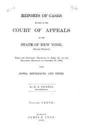 Reports of Cases Decided in the Court of Appeals of the State of New York: Volume 127