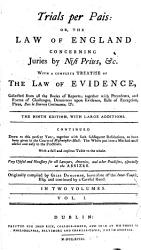 Trials Per Pais Or The Law Of England Concerning Juries By Nisi Prius C Book PDF