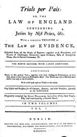 Trials Per Pais  Or  The Law Of England Concerning Juries By Nisi Prius   C