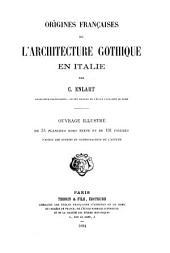 Origines françaises de l'architecture gothique en Italie