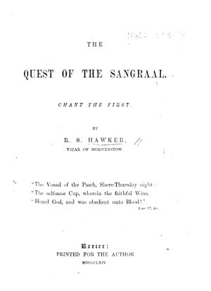 The Quest of the Sangraal PDF