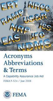 Acronyms Abbreviations & Terms - A Capability Assurance Job Aid