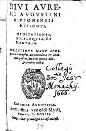 Meditationes, soliloquia et manuale