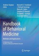 Handbook of Behavioral Medicine