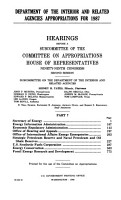 Department of the Interior and Related Agencies Appropriations for 1987 PDF