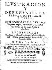 Ilustración y defensa de la fabula de Príamo y Tisbe