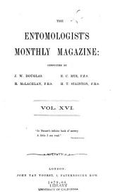 The Entomologist's Monthly Magazine: Volume 16