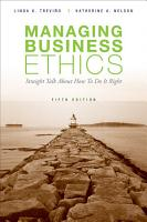 Managing Business Ethics PDF