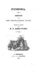 Pandora: lektuur voor den beschaafden stand, Volume 1