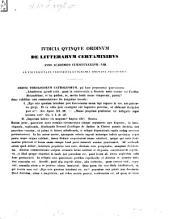 Iudicia quinque ordinum Universitatis Fridericiae Guilelmiae Rhenanae de litterarum certaminibus anni ... facta novaeque quaestiones anno ... propositae: 1847/48