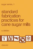 Standard Fabrication Practices for Cane Sugar Mills PDF