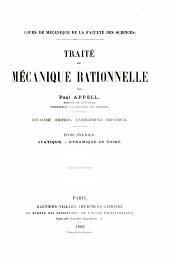 Traité de mécanique rationnelle: Volume1