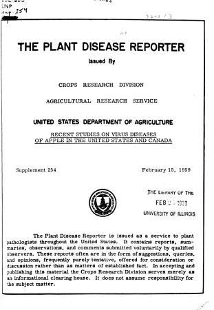 The Plant Disease Bulletin PDF