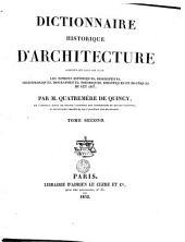 Dictionnaire historique d'architecture: Volume1
