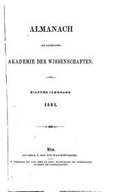 Almanach der kaiserlichen Akademie der Wissenschaften: Band 11