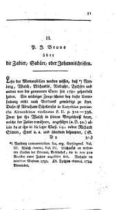 Über die Zabier, Sabäer oder Johannisschriften
