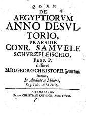 De Aegyptiorum anno desultorio