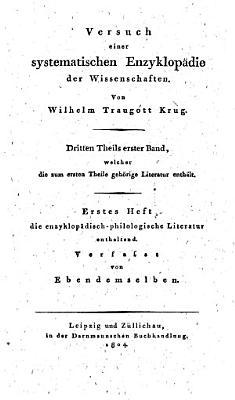 Enzyklop  disch szientifische Literatur PDF