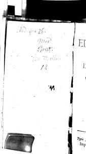 Epistolae medicinales: Centuria 1. et. 2