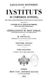 Explication historique des Institutes de Justinien
