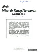 Nice   Easy Desserts Cookbook