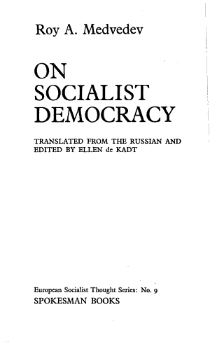 On Socialist Democracy PDF