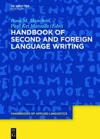 Handbook of Second and Foreign Language Writing PDF