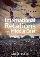 International Relations of the Middle East PDF
