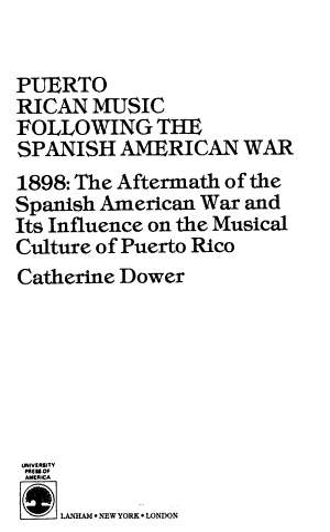 Puerto Rican Music Following the Spanish American War PDF