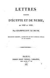 Lettres écrites d'Egypte et de Nubie en 1828 et 29