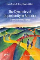 The Dynamics of Opportunity in America PDF