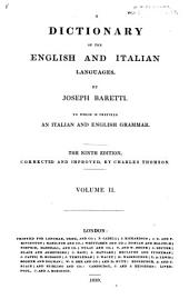 Dictionary of the English and Italian languages