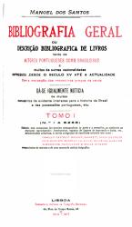 Bibliografia geral  ou  Descri    o bibliografica de livros PDF