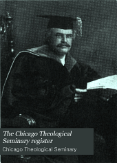 The Chicago Theological Seminary Register: Volume 5, Issue 4